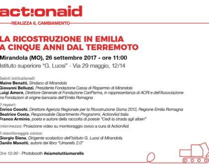 """Conferenza """"La ricostruzione in Emilia a cinque anni dal terremoto"""""""