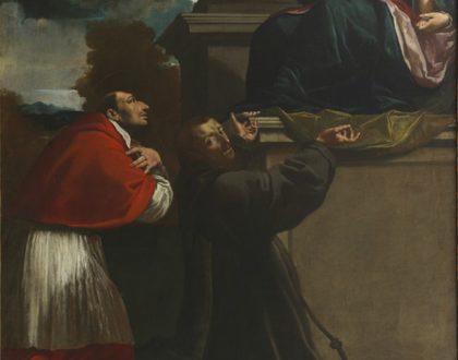 """Arte in vetrina: """"La Madonna con il Bambino in braccio venerata dai santi Carlo Borromeo e Francesco d'Assisi"""""""